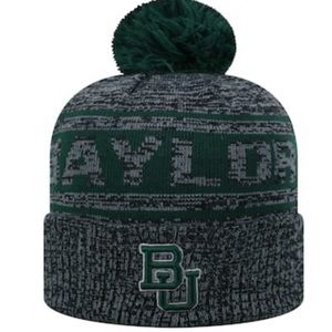 Authentic Baylor Bears BU Knit Hat w/Pom-Pom